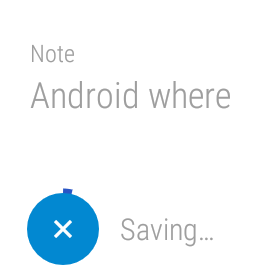 Android Wear google keep