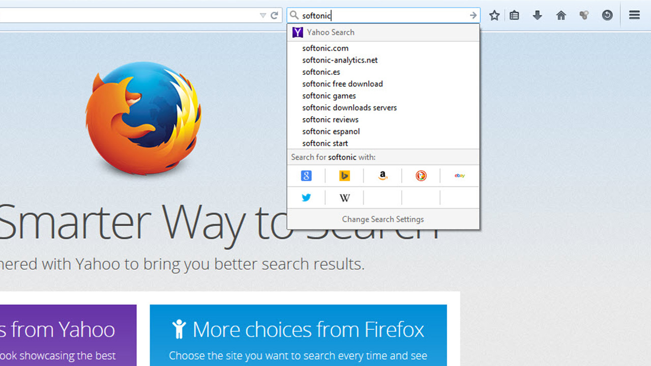 Download the Firefox 34 update, featuring a new search bar and built