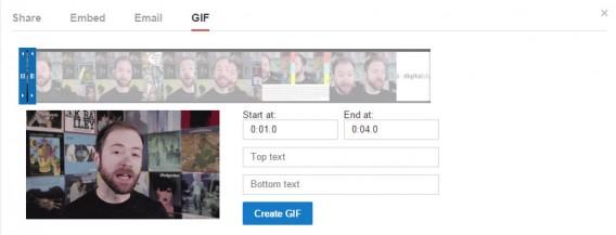 YouTube GIF creator