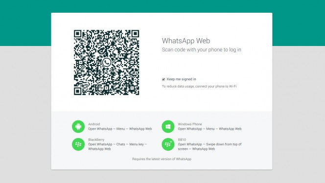 WhatsApp Web header