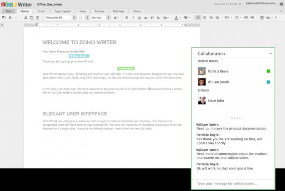 Zoho Docs Writer