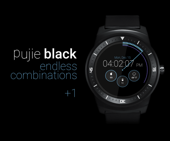 pujie black android wear