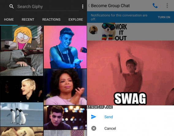 Giphy for Facebook Messenger