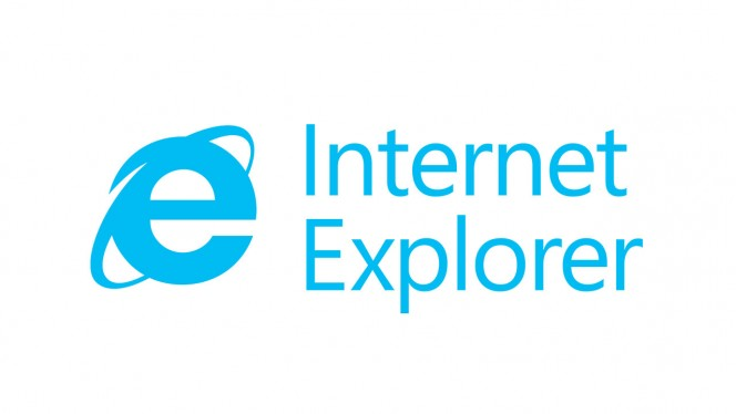 Internet Explorer text header