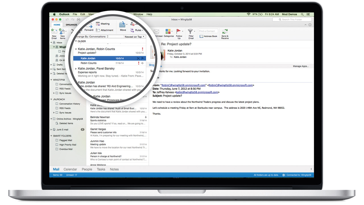 Office 2016 for Mac feels like the Windows version and that's a good thing