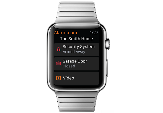 Alarm.com Apple Watch