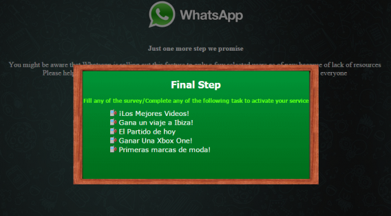 WhatsApp Scam surveys