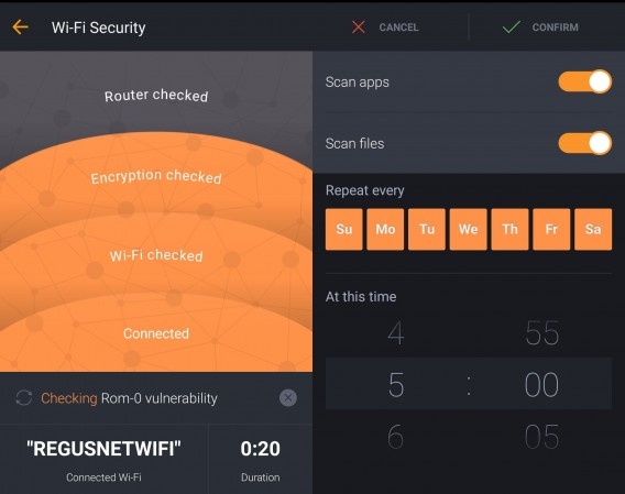Avast for Android Wi-Fi check