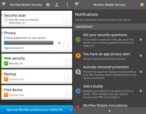 McAfee for Android 1