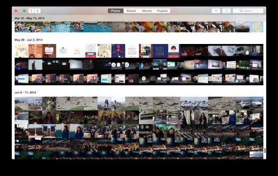 Photos for Mac tumbnails