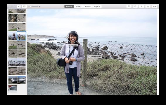 Photos for Mac Faces