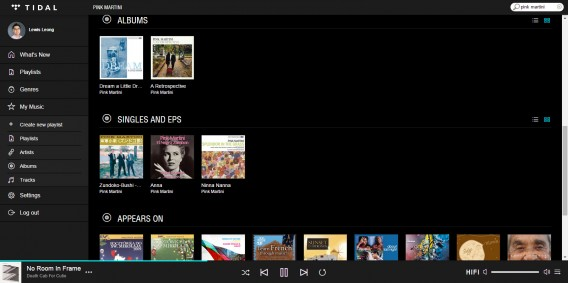Tidal music library