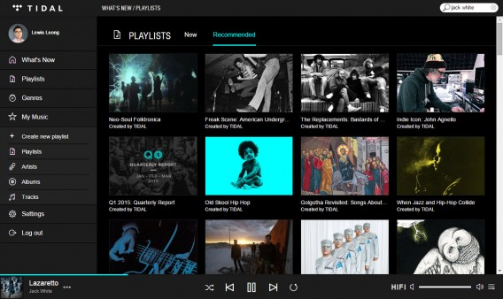 Tidal recommended playlists