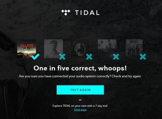 Tidal test failure