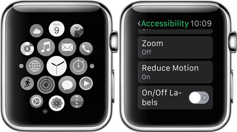 apple watch greyscale reduce motion