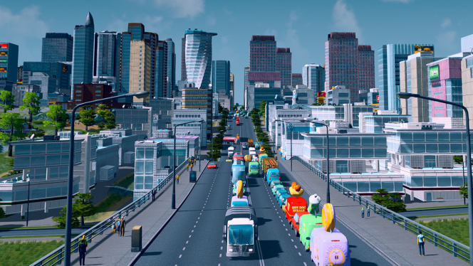 Check out this helicopter mod for Cities: Skyline