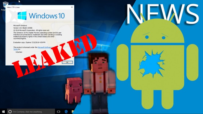 EN windows 10 build, facebook, whatsapp operadoras, brecha seguridad android, minecraft story mode