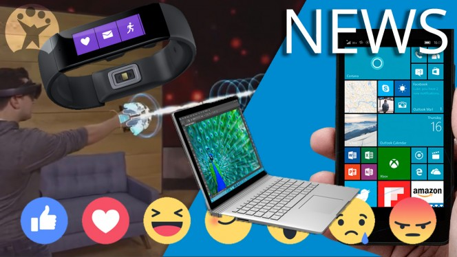 Microsoft Band, Lumia 950, Surface Book, Facebook likes, Holo-Lens