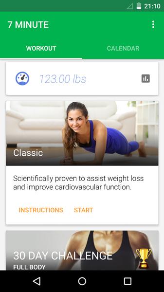 7 Minute Workout Screenshot