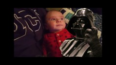 This baby is more of a Star Wars fan than you'll ever be