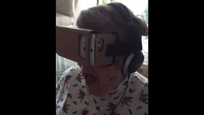 This Grandmother's reaction when she tried virtual reality for the first time is priceless!