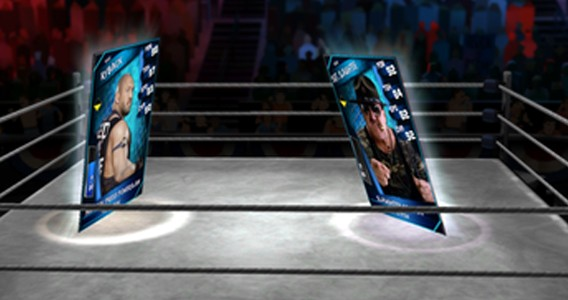 WWE SuperCard - is that Ryback vs Sgt Slaughter?