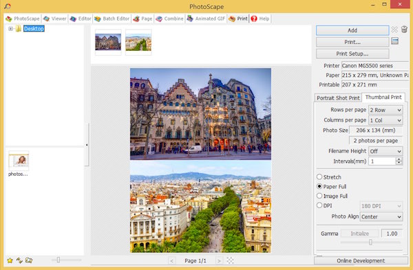 Photoscape - Print Function