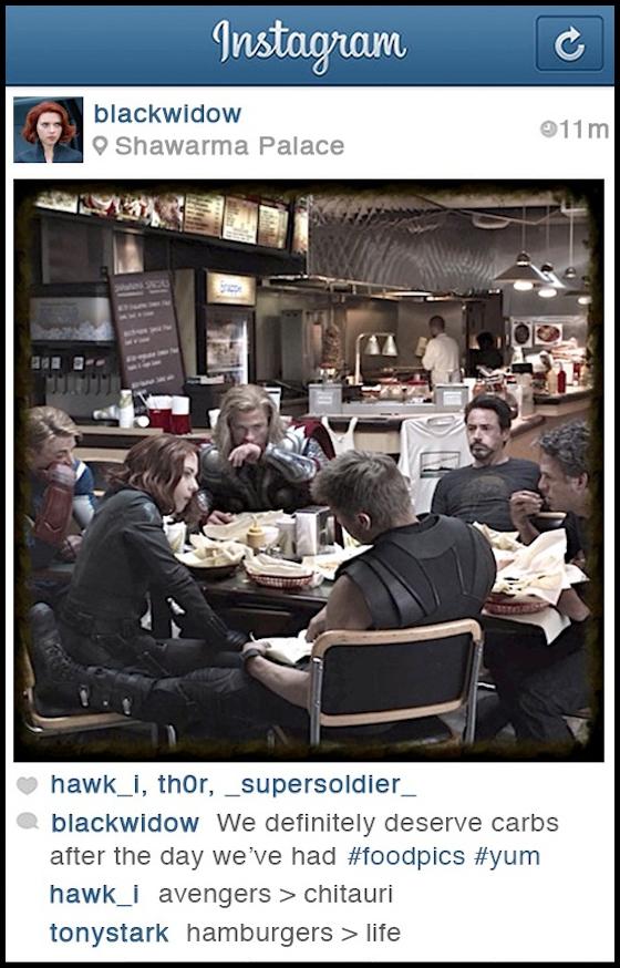 Black Widow Instagram