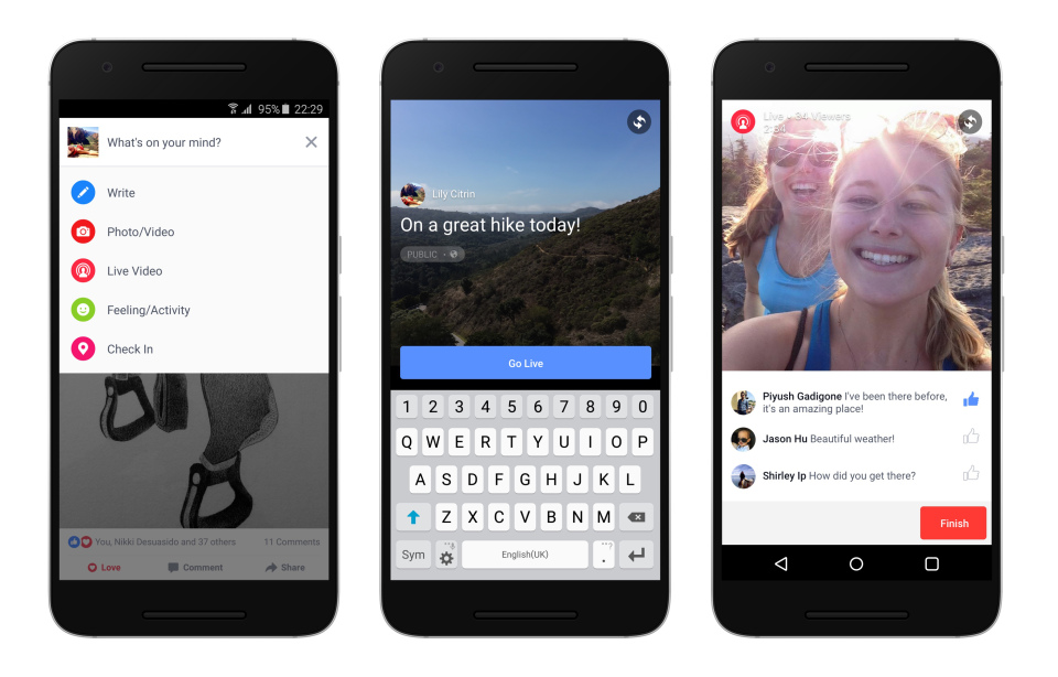 Facebook Live finally launched on the Android app!