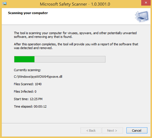 Microsoft Safety Scanner - Quick Scanner