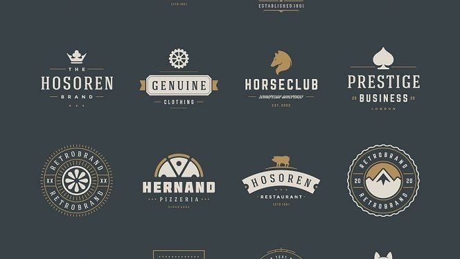 Vintage Logos Design Templates Set. Vector design elements, Logo