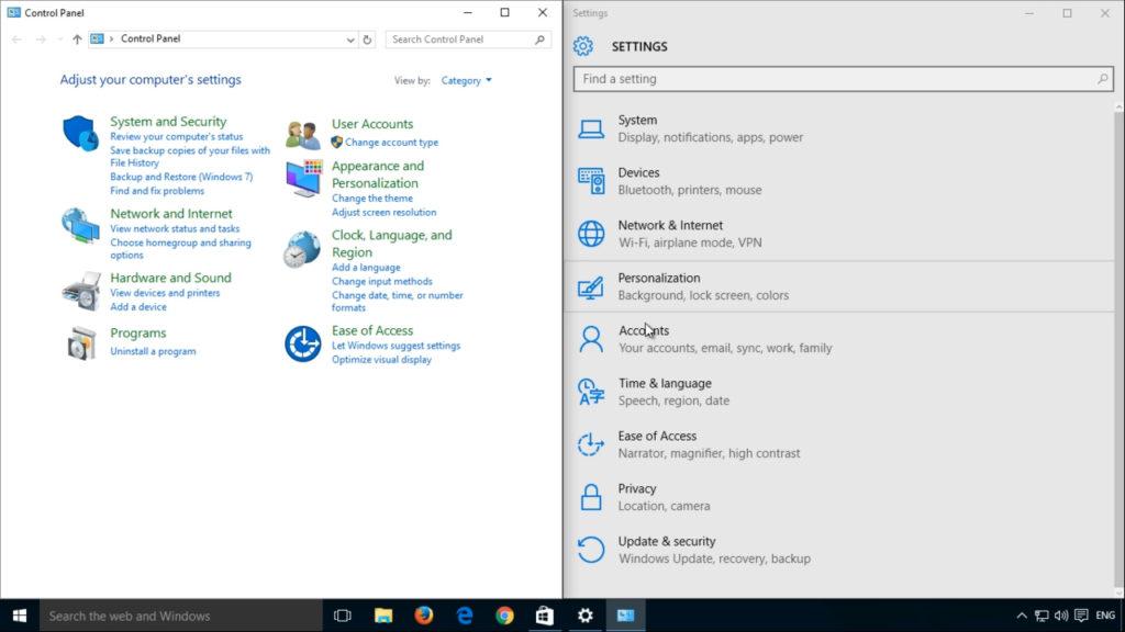 Windows 10 control-panel