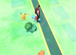 Pikachu on the Pokémon Go Map