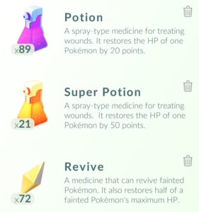Pokémon Go Potions