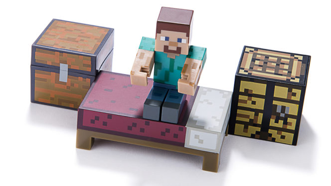 Ankara, Turkey  July 01, 2015: Minecraft figure Herobrine stands