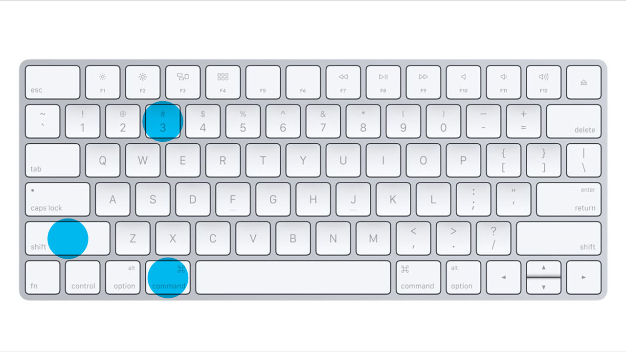 Apple Keyboard - Command - Shift - 3