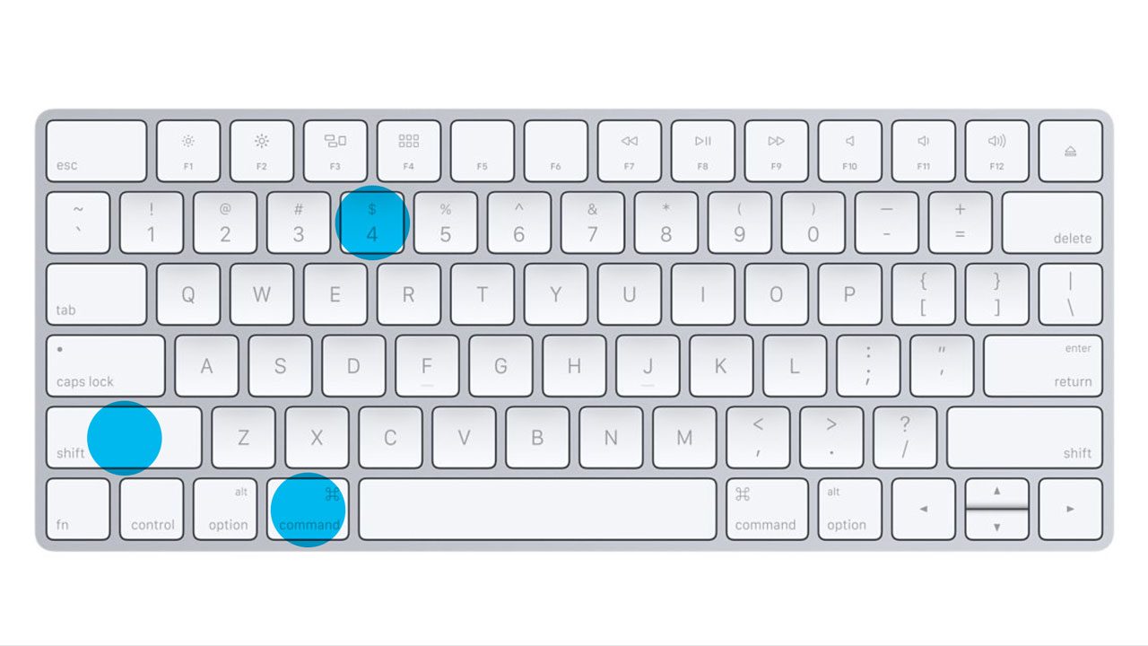 Apple Keyboard - Command - Shift - 4