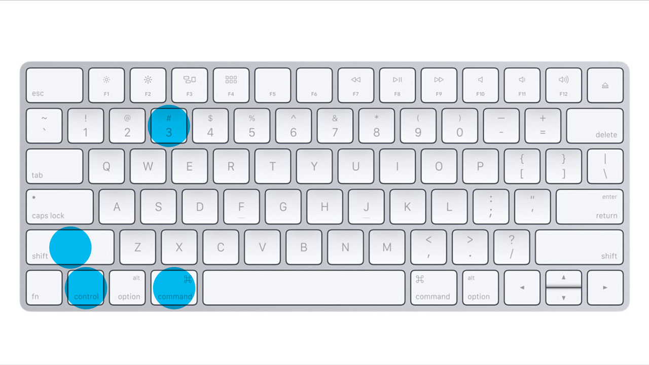 Apple Keyboard - Control - Command - Shift - 3