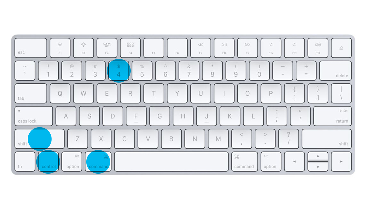 Apple Keyboard - Control - Command - Shift - 4