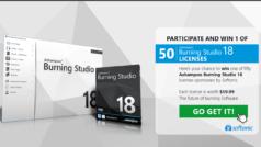 Win 1 of 50 Ashampoo Burning Studio 18 licenses (each worth $59.99)