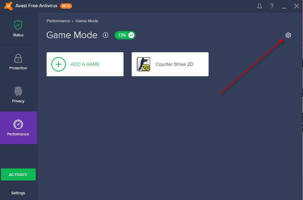 how to exclude steam from avast