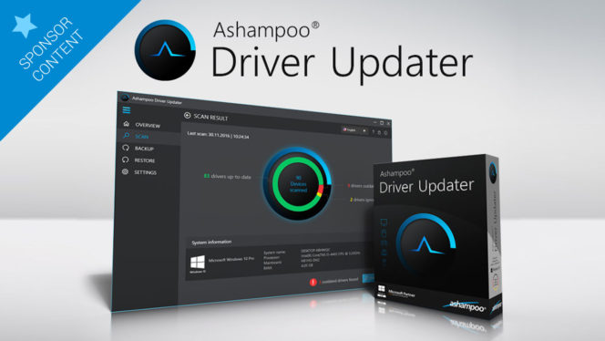 Keep your PC up to date with Ashampoo Driver Updater