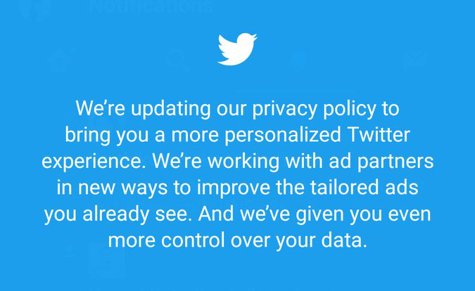 Twitter Privacy Policy Update