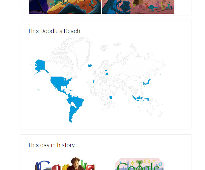 This is where to see your favorite Google Doodle again