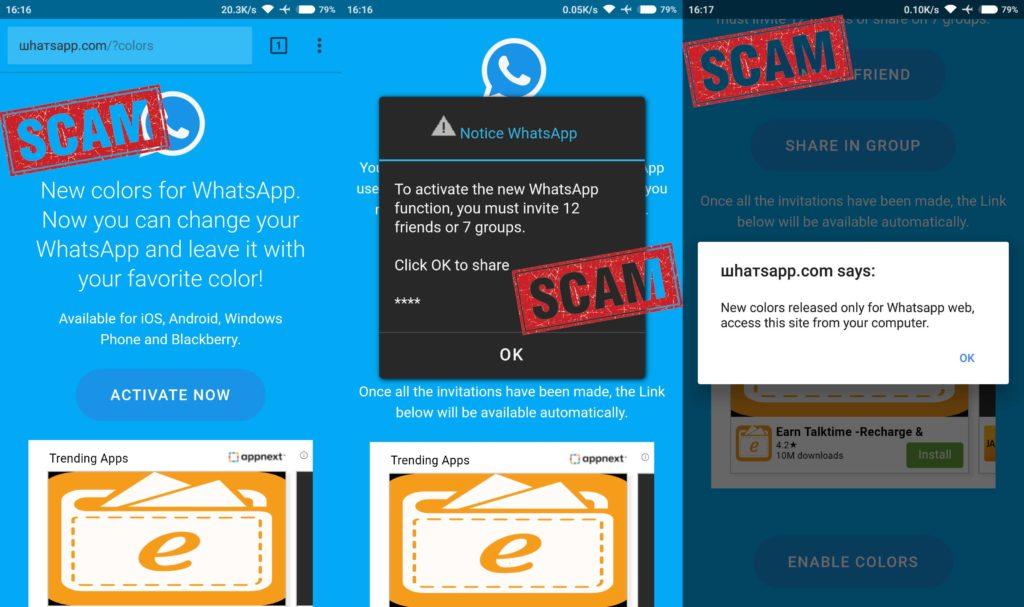 Beware this Fake WhatsApp Update Scam