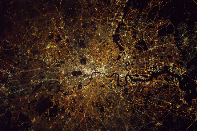 This Map Allows you to Be the Astronaut you Always Wanted to Be London at Night