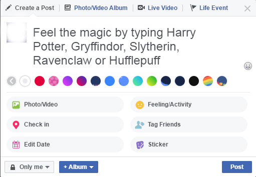 Facebook is Celebrating 20 Years of Harry Potter