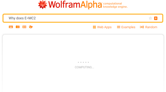 Reasons not to use Google for search wolfram alpha