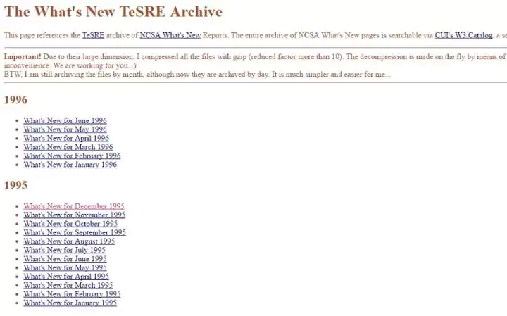 The 13 oldest web pages that are still working today whats new
