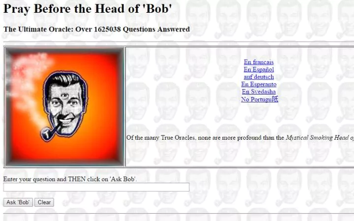 The 13 oldest web pages that are still working today head of bob